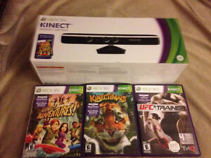Never used Kinect and 3 games for Xbox 360