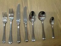 Viners cutlery 8 place settings plus 2 serving spoons