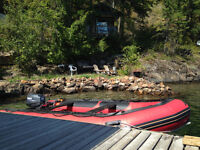 Inflatable boat, motor, and trailer for sale!