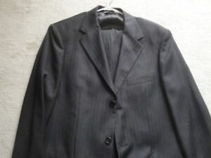 """SIZE 38 LONG WOOL NAVY SUIT, 32"""" WAIST, EXCELLENT CONDITION!"""