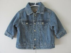 Veste en jeans doublée(unisexe),  grandeur 6 mois