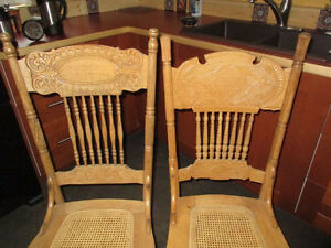 Antique Press Back Chairs (set of 4)