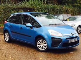 2007 Citroen C4 Picasso 2.0i EGS SX 5 Door Blue AUTO only 76k Miles FSH 8 STAMPS