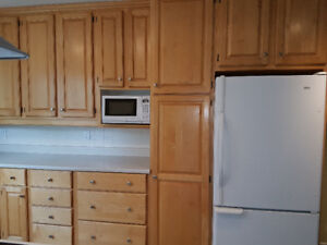 Maple Cabinets for sale. Perfect for cottage or apartment.