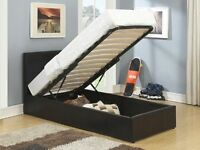 BRAND NEW SINGLE STORAGE BED IN A VERY CHEAP PRICE WITH MATTRESSES WE GOT DOUBLE BED & KINGSIZE BED