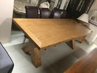 Large solid oak table sale now on all tables