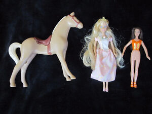 Barbie princess with friend and horse