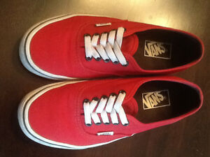 Red Vans - men's 7 / women's 8.5