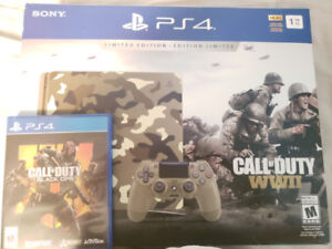 PS4 WW2 Limited Edition Bundle + Black ops 4 Game