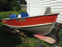 14 ft. Lund w/ 25 HP Mercury Outboard & Trailer