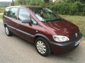Vauxhall/Opel Zafira 1.6i 16v Club LONG MOT + CHEAP 7 SEATER