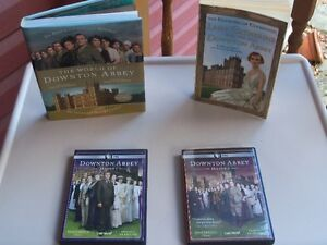 Collection of Downton Abbey books and DVDs!