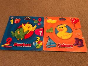 Multiple Board books- ie trucks, Sesame Street, interactive, etc