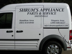 Shrum's Appliance Parts and Service