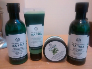 Body Shop Tea Tree Facial Products