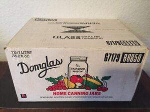 Vintage Domglas canning jars NIB