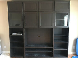 Wall unit and entertainment centre