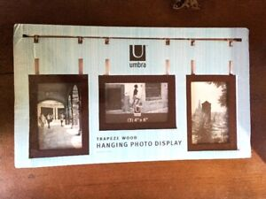 Trapeze Wooden Photo Picture Display - UMBRA - Brand New