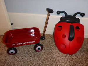 Small Little Toy Red Wagon