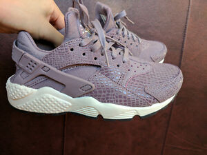 Air Huarache Run Premium Print (purple / white)