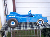 1970's Plastic Dragster Pedal Car.