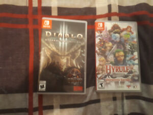 Hyrule warriors and Diablo 3 both for nintendo switch