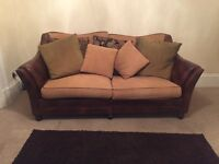 Stunning 3 seater sofa and single chair for sale