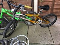 Three BMX's and spares included