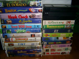LOT OF KIDS MOVIES VHS