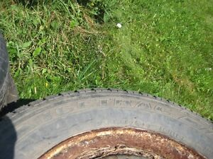 """tires -- set of 4 M&S - 14"""" -- with rims"""