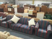 SOLD sofa bed 3 piece suite,