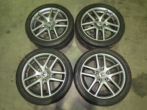 JDM Honda Accord CL7 Euro R Gunmetal Wheels, 17inch 5X114.3