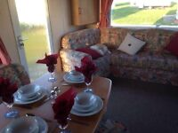 3 BEDROOMED CARAVAN TO RENT ON NORTH EAST COAST OF ENGLAND, NORTHUMBERLAND, NEWBIGGIN BY THE SEA.