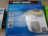6 cup Black and Decker rice cooker and steamer