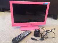 "Alba pink 16"" tv DVD player"