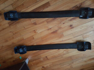 Snowboard roof rack rails (bought for a Subaru Legacy)