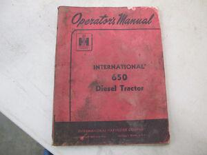 IH 650 Diesel Tractor Operators Manual