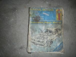 1982 to 1993 buick skyhawk haynes manual Peterborough Peterborough Area image 1