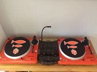 Vestax PDX 2000 Decks and Numark Mixer