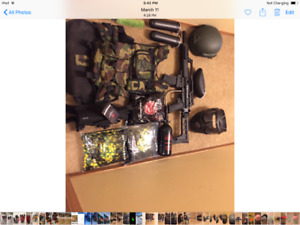 Paintball gun and tactical equipment