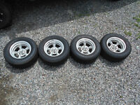 5 spoke rims and tires