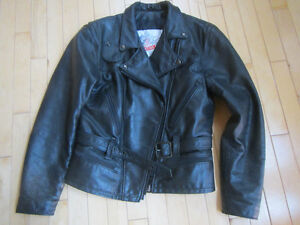 Made in Canada Ladies Leather Motorcycle Jacket