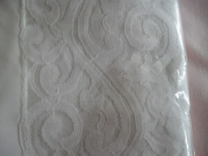 White Table Cloth with lace edges
