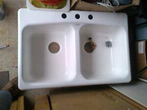 Kohler caster iron double sink