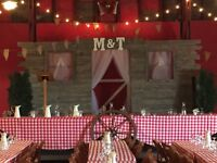 Head Table Back Drop - $600