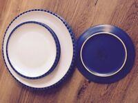 Denby blue reflex odd plates