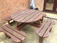Wooden Garden Bench-Table