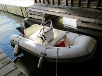 Inflatable boat /w centr console, outboard  & trailer