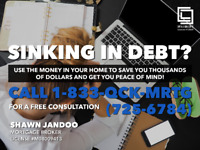 SINKING IN DEBT?  USE THE EQUITY IN YOUR HOME TO PAY OFF BILLS!