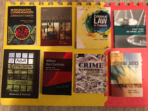 CRIMINAL JUSTICE TEXTBOOKS - NEED TO GO ASAP